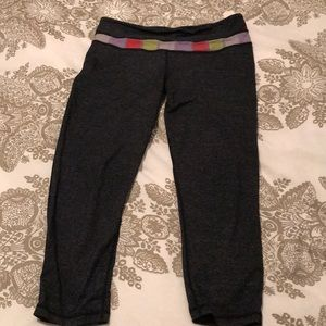 Lululemon heather grey wunder under crop